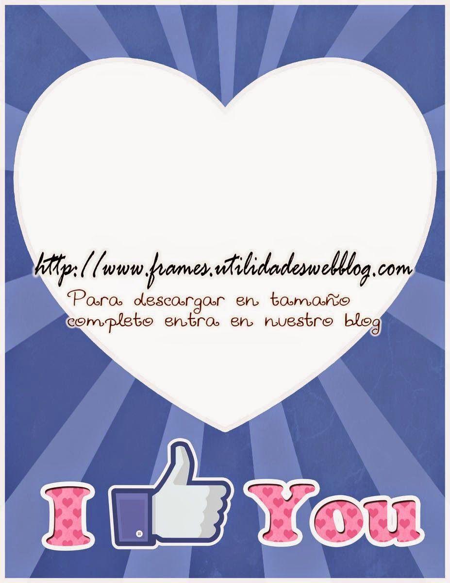 Marco para fotos de amor y amistad inspirado en Facebook | Photo ...