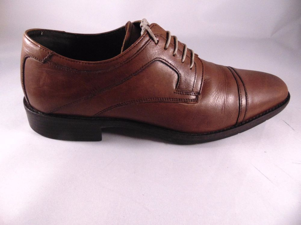 Johnston & Murphy Mens Brown Leather Oxfords Size 8 M