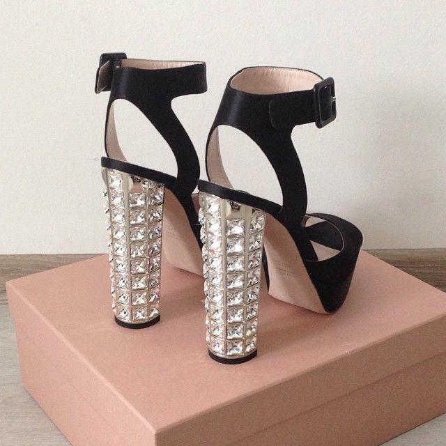 Miu Miu Crystal heeled sandals 3kXUa6OzMP