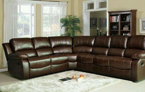 Designer Luxury Designer Miami Leather Corner Recliner 3c2 Sofa Brown 7 Seater Recliner Corner Sofa Brown Sofa Leather Recliner