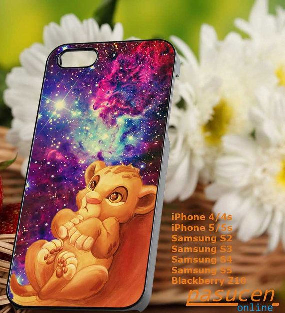 Disney The Lion King Simba Floral tumblr iphone case