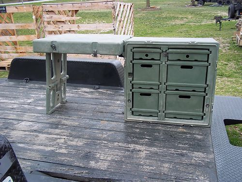 Military Surplus Army Field Desk Portable Folding or Camp