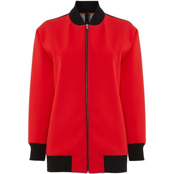 Wonder Red Bomber Varsity Jacket