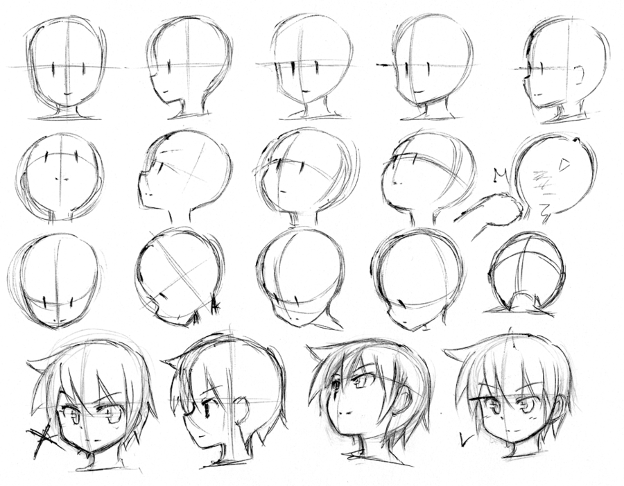 Junk Sketch 108 By Catplus On Deviantart Drawing Heads Anime Head Anime Drawings