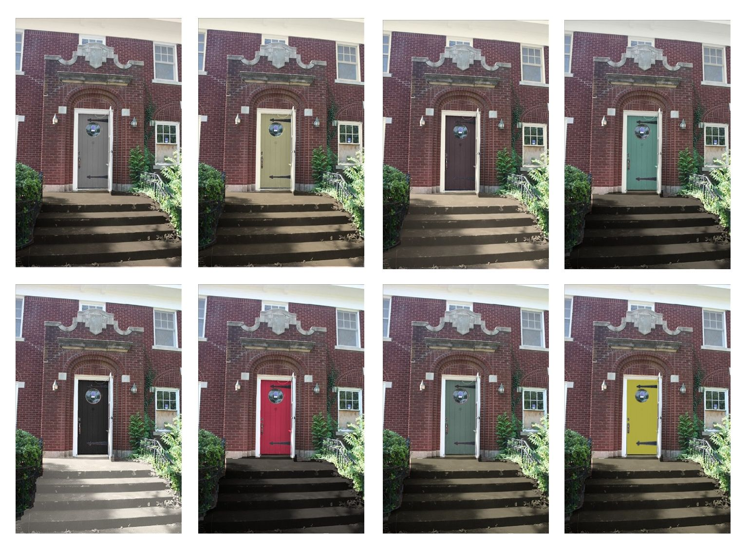Front Door And Shutter Colors For Brick House