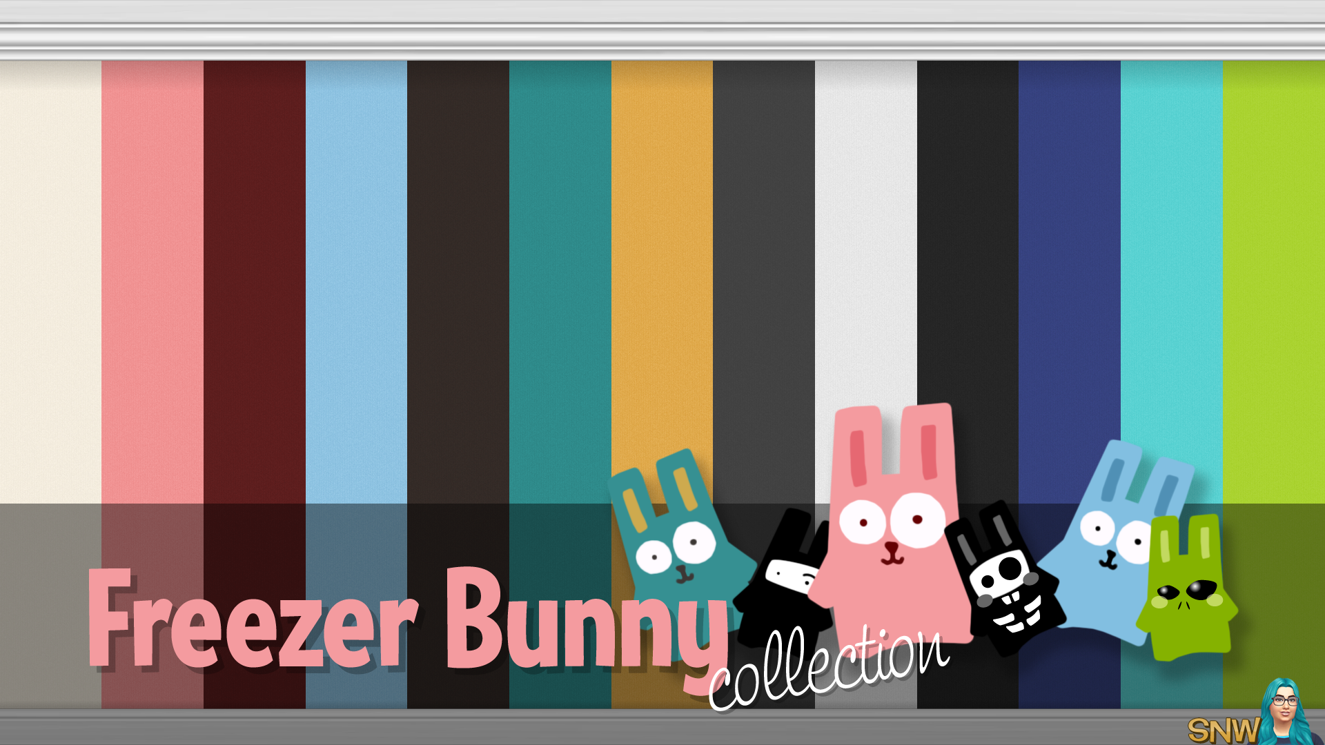 Freezer Bunny Collection Plain Wallpapers Plain Wallpaper