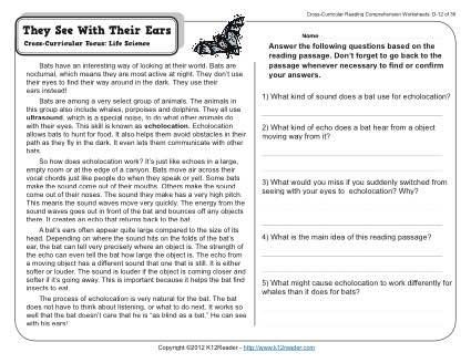 They See With Their Ears K12 Reading Comprehension