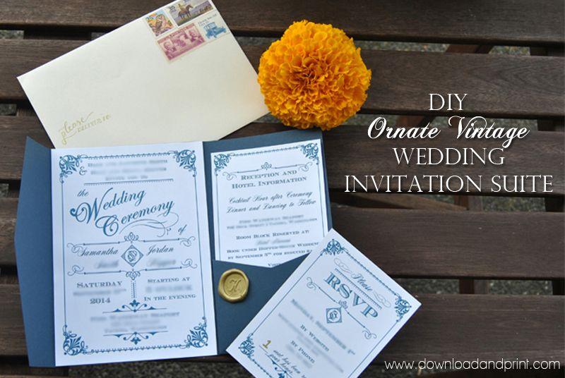 Pin By Download Print On Diy Wedding Invitation