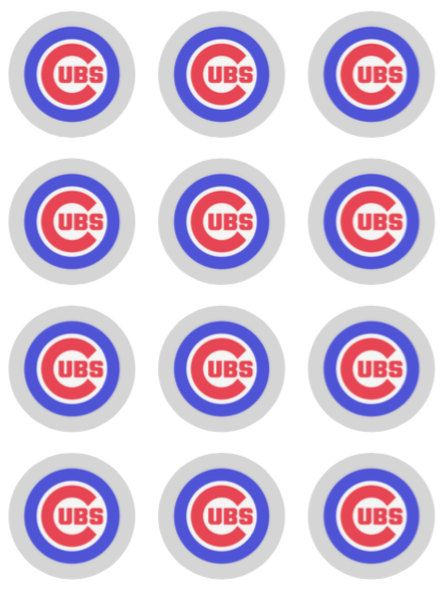 photograph regarding Printable Cubs Logo identify Chicago Cubs Baseball cupcake toppers or stickers prefer tags
