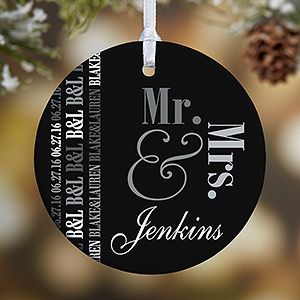 Personalized Wedding Christmas Ornament - We Said I Do - 1-Sided ...