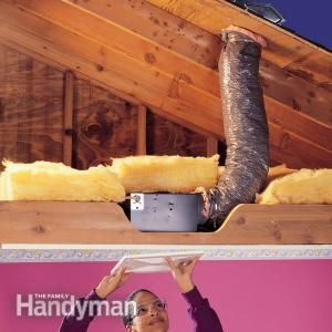 How To Install A Bathroom Fan The Family Handyman House