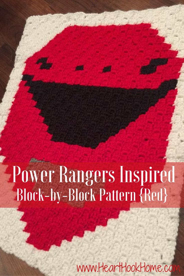 Power Rangers Inspired Bock-by-Block Crochet Pattern (Red ...