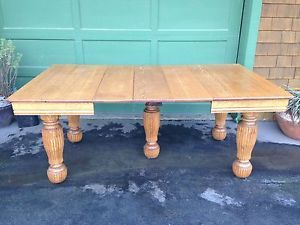 Antique Oak 5 Legs Farmhouse Harvest Dining Table Late 1800 039 S