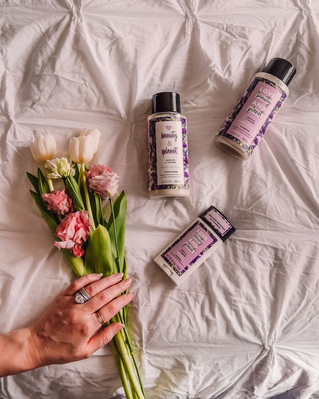 Eco Friendly Beauty With Love Beauty And Planet Deodorant Shampoo And Conditioner In Lavender And Arga Eco Friendly Beauty Beauty Planet How To Grow Eyebrows