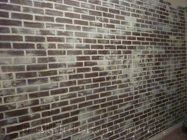 The Not-So-Secret Life of Jennifer Nicole: {Faux} Brick Wall