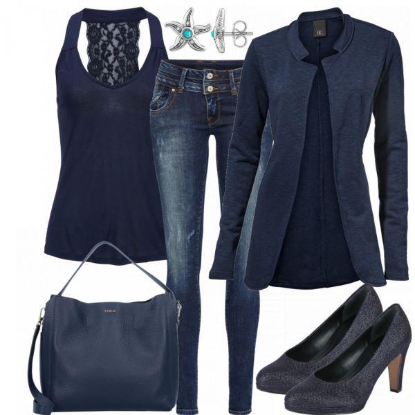 c5e5ed019c6324 SmartInBlue Damen Outfit - Komplettes Business Outfit günstig kaufen |  FrauenOutfits.de