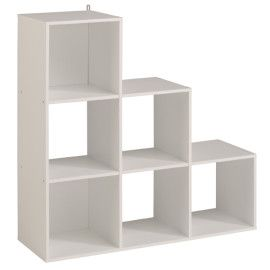 805009 Kubikubfsix Cube White Stepped Modular Storage Unit For Kids Playroom Bedroom Idd1200 Cube Wall Shelf Cube Unit Understairs Storage