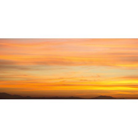 elevated view of mountains at sunset san jacinto riverside county california usa canvas art panoramic images 36 x 12 products pinterest riverside