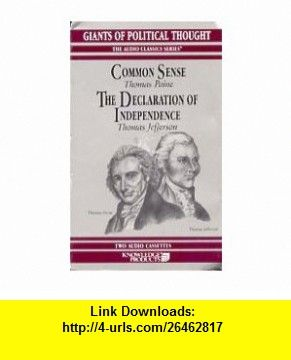 Common Sense The Declaration Of Independence 9780938935018 George