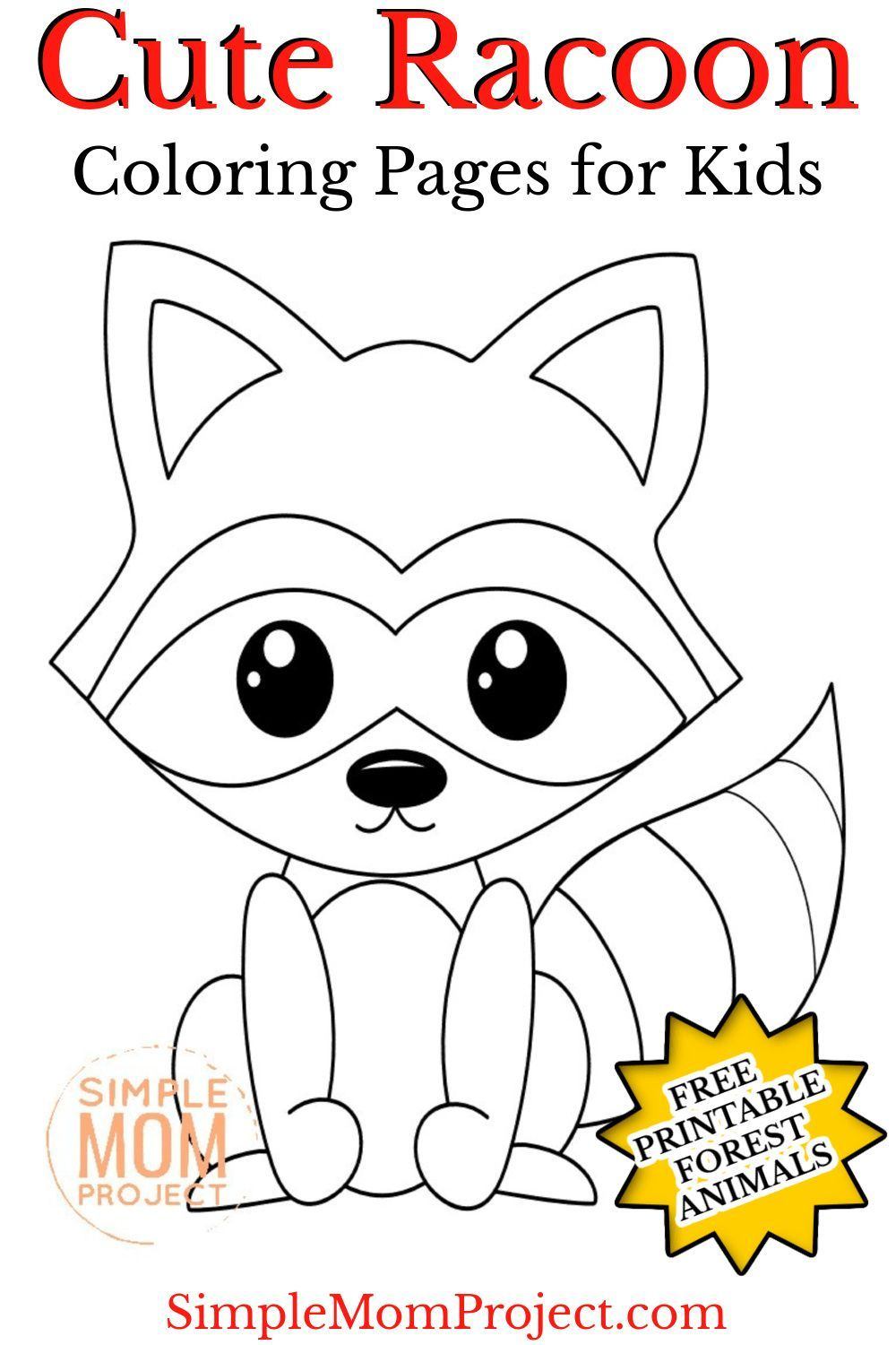 Bandit Face Raccoon Coloring Pages Raccoon Coloring Page And Kids Activity Sheet Honkingdonke Deer Coloring Pages Cartoon Coloring Pages Zoo Coloring Pages
