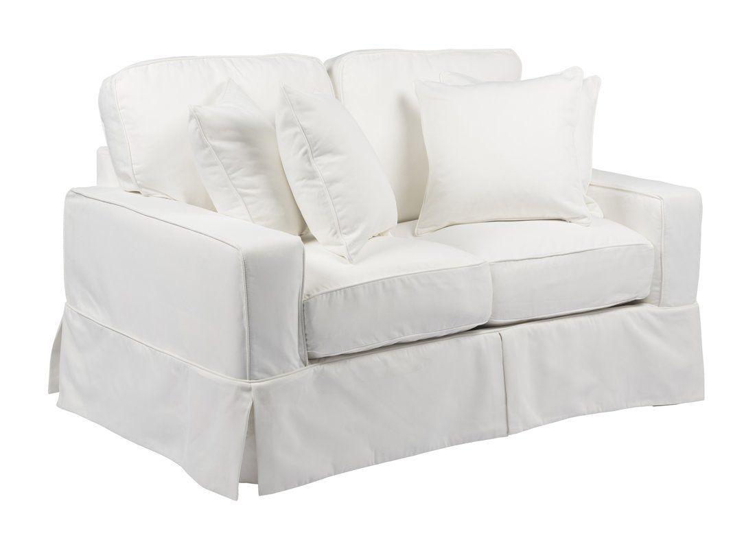 """IKEA KIVIK Loveseat 2 Seat Sofa 74 3//4/"""" Cover Slipcover ISUNDA BEIGE New!"""