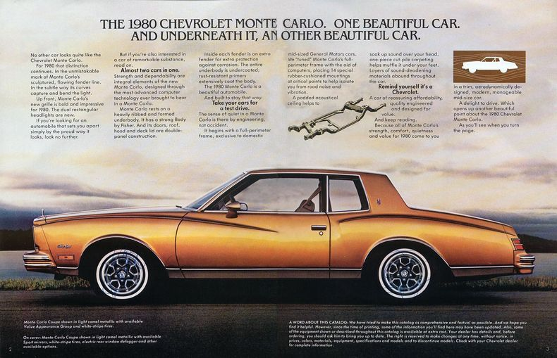 1980 Monte Carlo Specs Colors Facts History And Performance Chevrolet Monte Carlo Monte Carlo Chevrolet