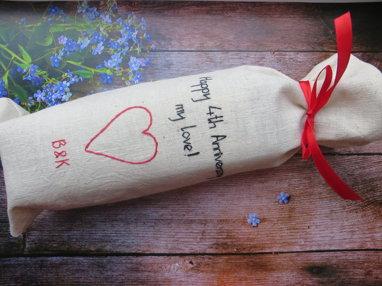 B 12th 4th Anniversary Gift Him Linen Gifts Men 12 4 Year Wedding