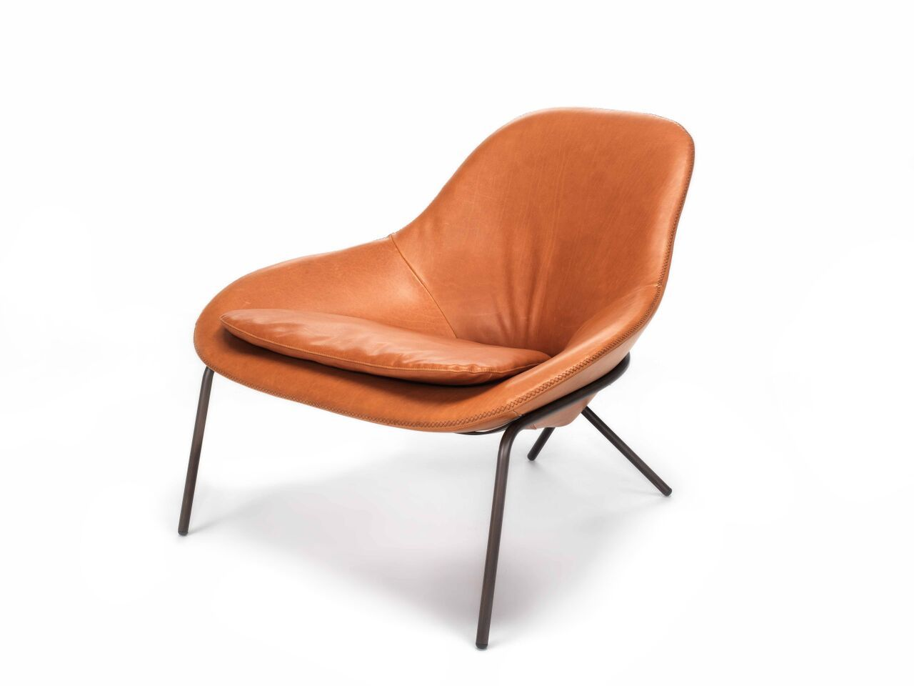 Comfortable Leather Lounge Chair Cross Leg Chair By Magnus Long Leather Lounge Chair Leather Lounge Leather Chaise Lounge