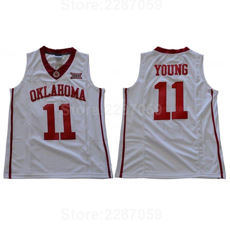 promo code 274ab d2ec7 Ediwallen Oklahoma Sooners Trae Young College Jerseys 11 Men ...
