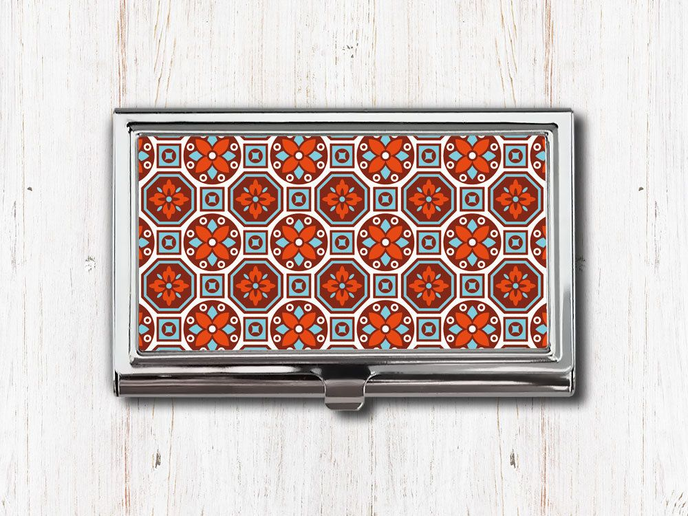 Burgundy turquoise moroccan business card case morocco moorish burgundy turquoise moroccan business card case morocco moorish marrakesh business card holder metal colourmoves