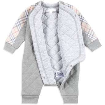 d38bbfd0c Baby  Dalton  Quilted Check Babygrow - Grey