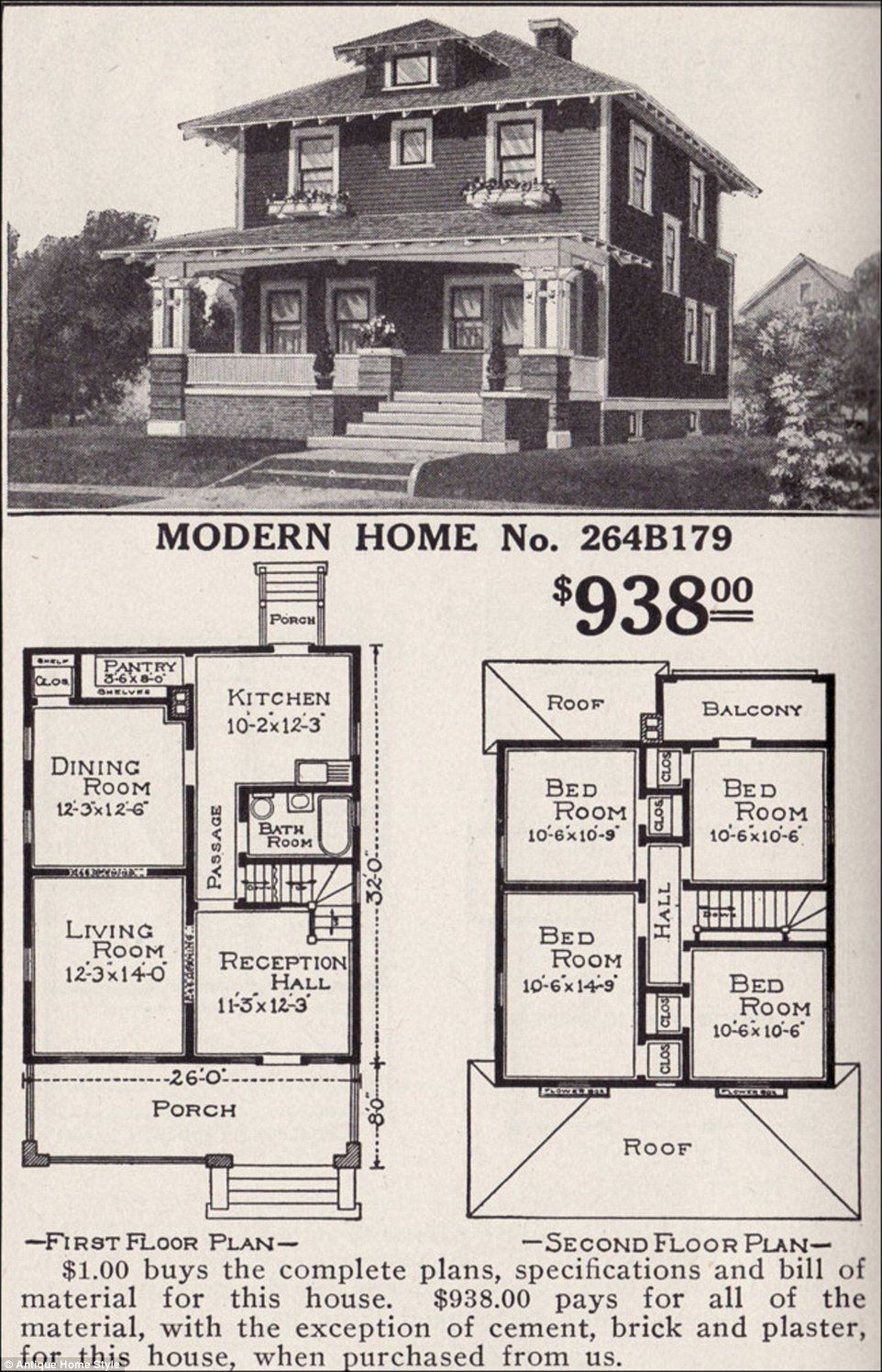 Man Restores His Grandparents 1916 Flat Pack Home From Sears Four Square Homes Vintage House Plans House Plans