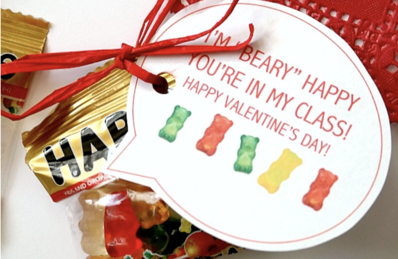 I M Beary Happy You Re In My Class C R A F T Bear Valentines Valentine Crafts Printable Classroom Valentines