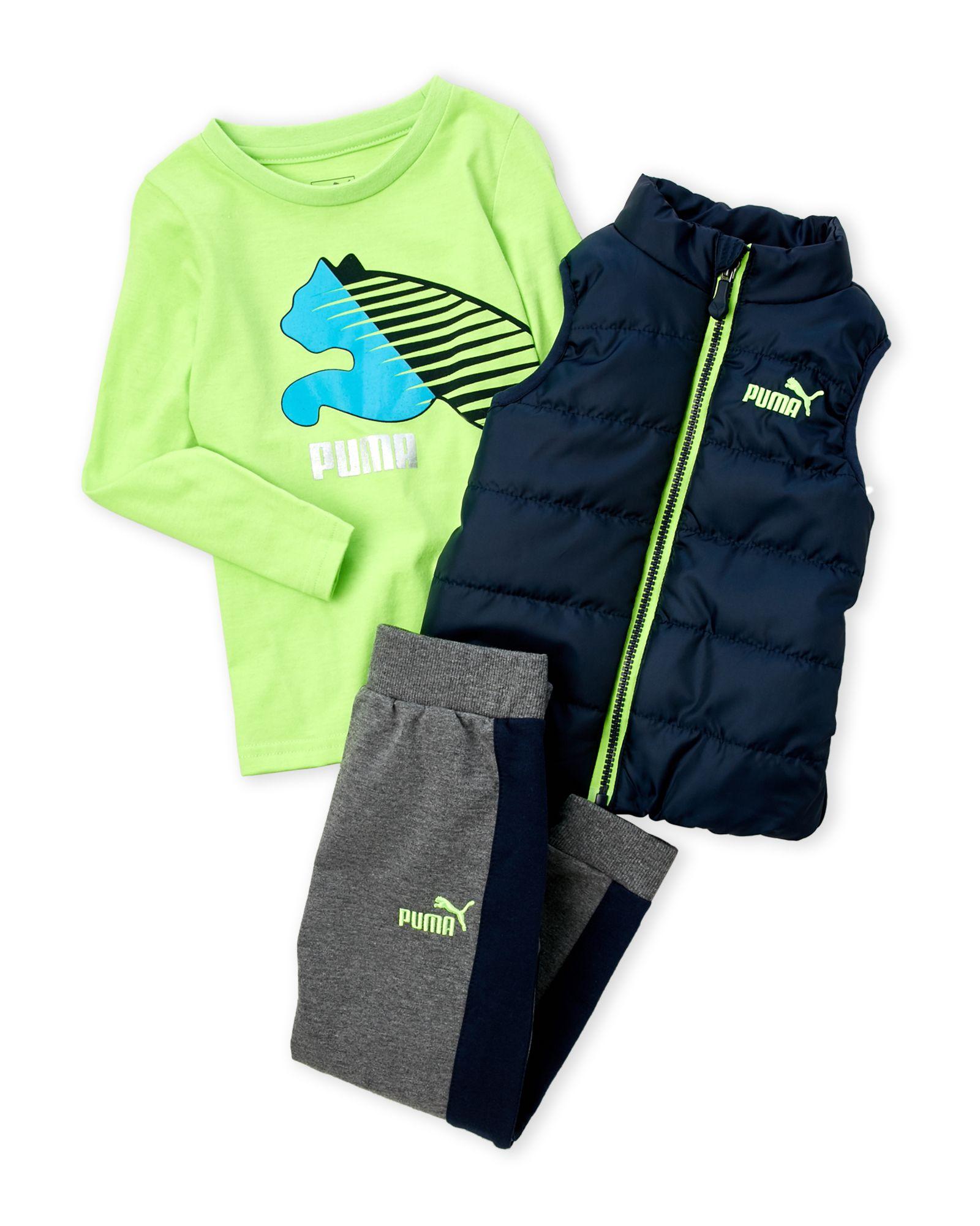Puma Toddler Boys 3 Piece Vest Set