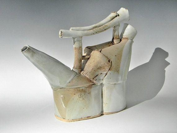 Hand Built Watering Can - Laura B Cooper Ceramics