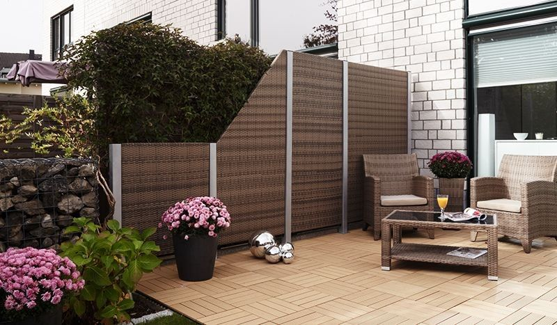 pin von jukom gmbh auf kunststoffz une pinterest kunststoffz une sichtschutzzaun und polyrattan. Black Bedroom Furniture Sets. Home Design Ideas