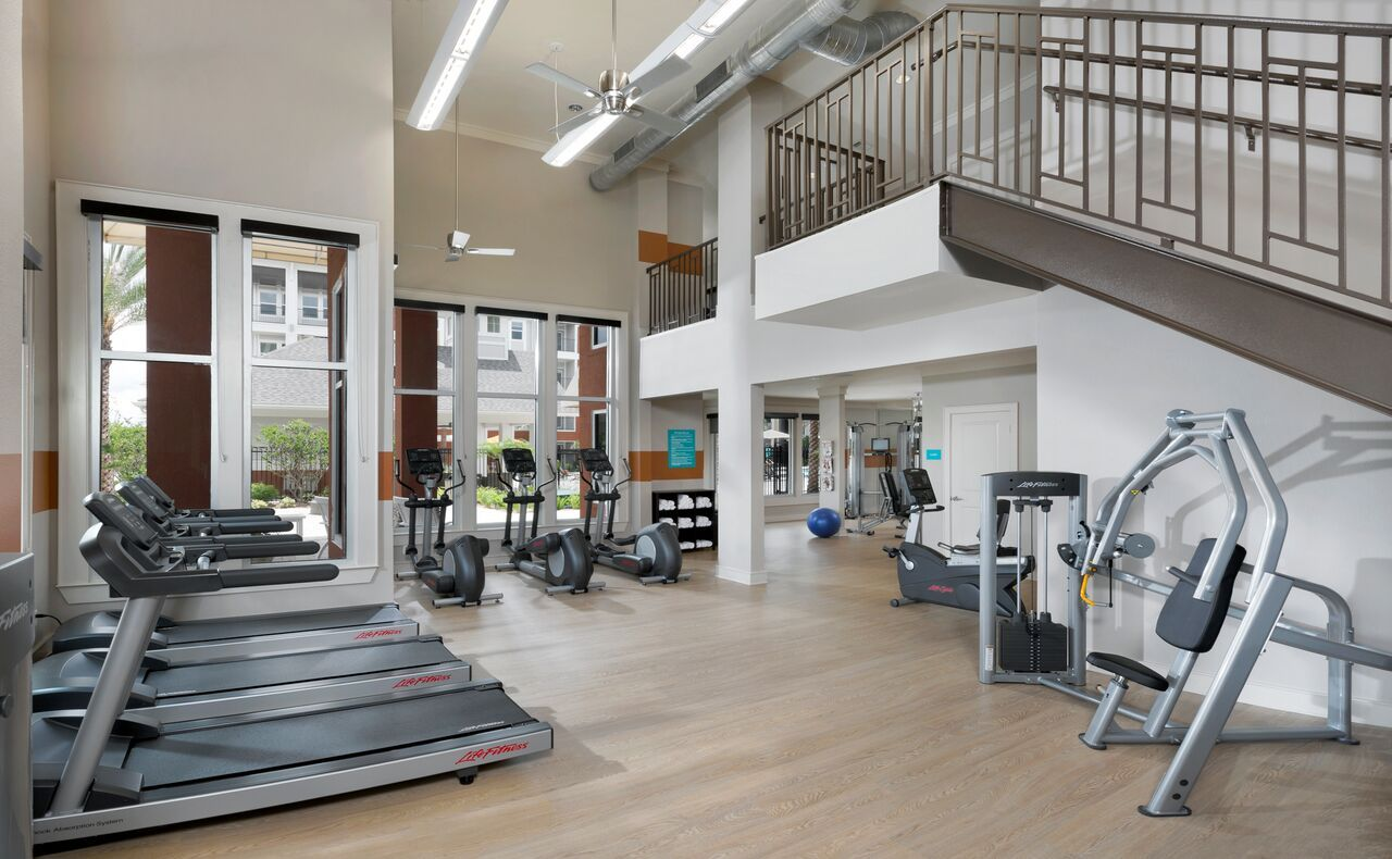 24 Hour Fitness Center Luxury Apartments Luxurious Bedrooms Community Picture