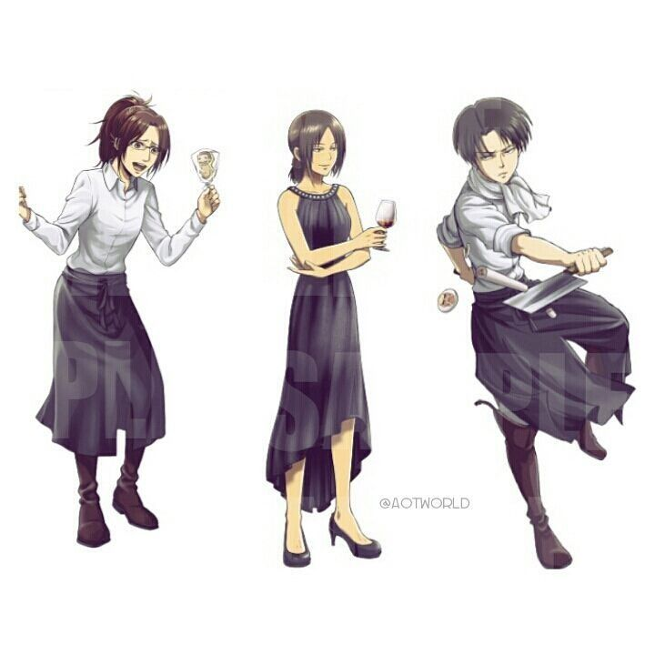 How can I ever saw this official art?!?!?! (I saw only Levi) Omg it's perfect and Hanji + Levi = Ymir (Hanji hair/Levi eyes) Credit to (aotworld) on instagram Don't remove the credit please.