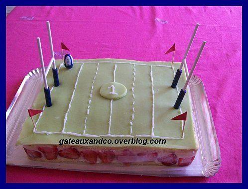 g teau stade de rugby cakes pinterest gateau sport g teaux 3d and rugby. Black Bedroom Furniture Sets. Home Design Ideas
