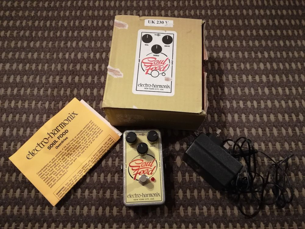 Electro harmonix soul food overdrive guitar effects pedal