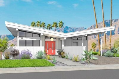 2 Bed Modern House Plan with Carport