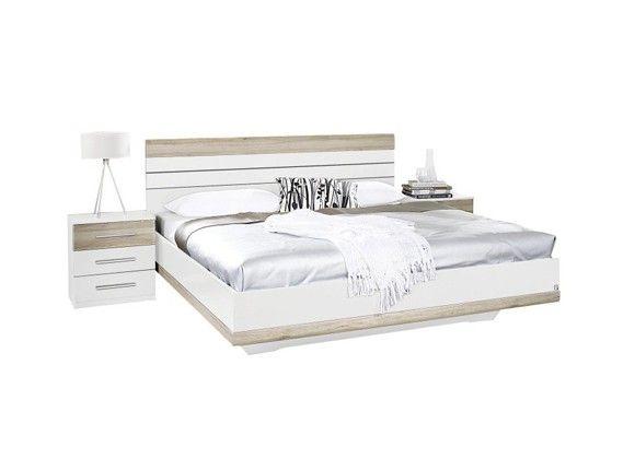 Bett aus massivem Holz in weiss Schlafzimmer set