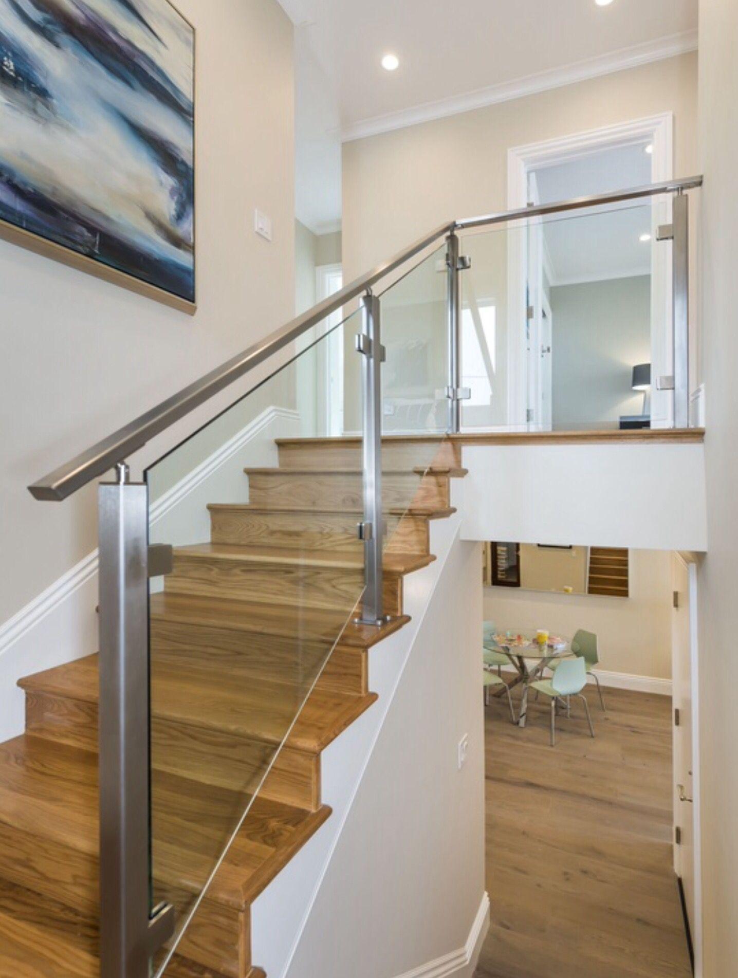 Modern Glass And Steel Stair Rail
