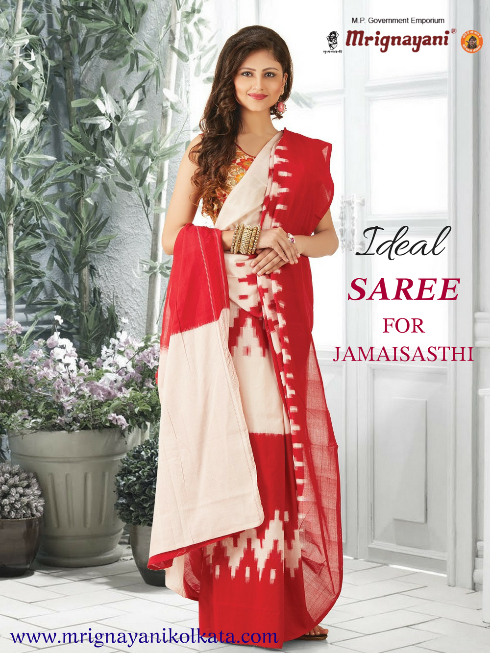 5e4f3d2659 Find exclusive collection of Jamai Sasthi special sarees for your  mother-in-law. Visit our #Mrignayani #showroom at Dakhinapan Gariahat to grab  the ...
