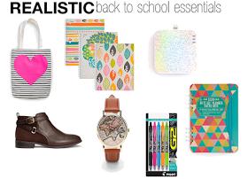 Realistic back to school essentials