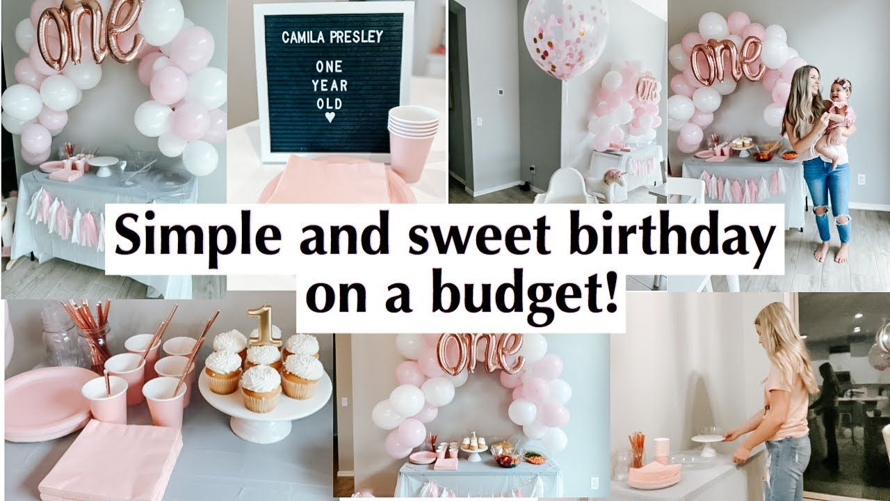 Simple And Cute Birthday Party On A Budget 1st Bday Ideas Party Decorations From Dollar Tree Birthday Cute Birthday Party Dollar Tree Birthday Decorations