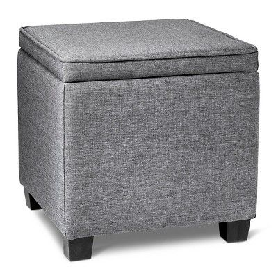 Square Ottoman With Lap Desk Gray Room Essentials