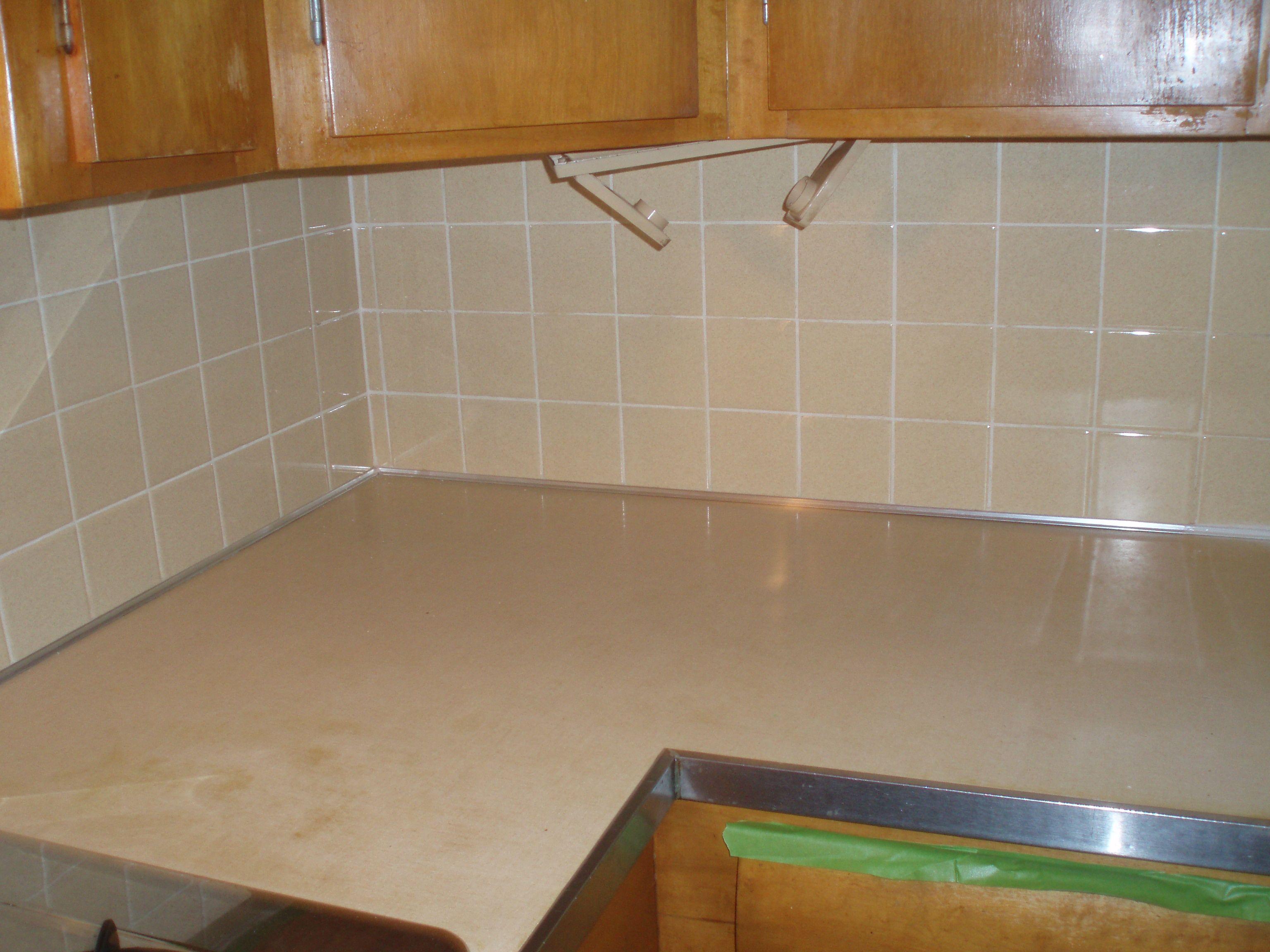 Painting tile backsplash home stuff pinterest painting tile how to paint a ceramic tile backsplash doublecrazyfo Gallery