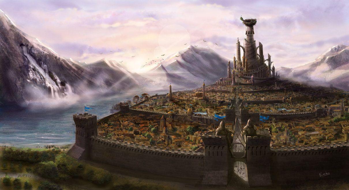 The city of Dorean by Erebus-art.deviantart.com on @DeviantArt