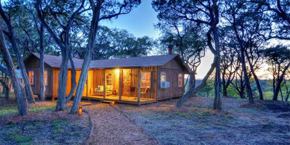 House crush a rustic texas cabin made entirely out of for Texas hill country cottages for sale